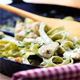Chicken Pesto and Handmade Fettuccine Pasta - Recepie