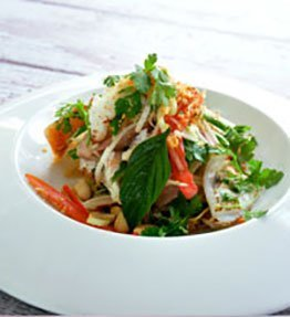 Fresh Spanner Crab Meat with shredded duck - Recepie
