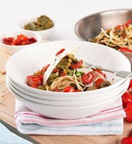 Spaghetti with Grape Tomato & Rocket Tapenade - Recepie