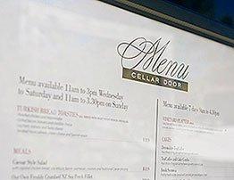 sirromet cellar door menu